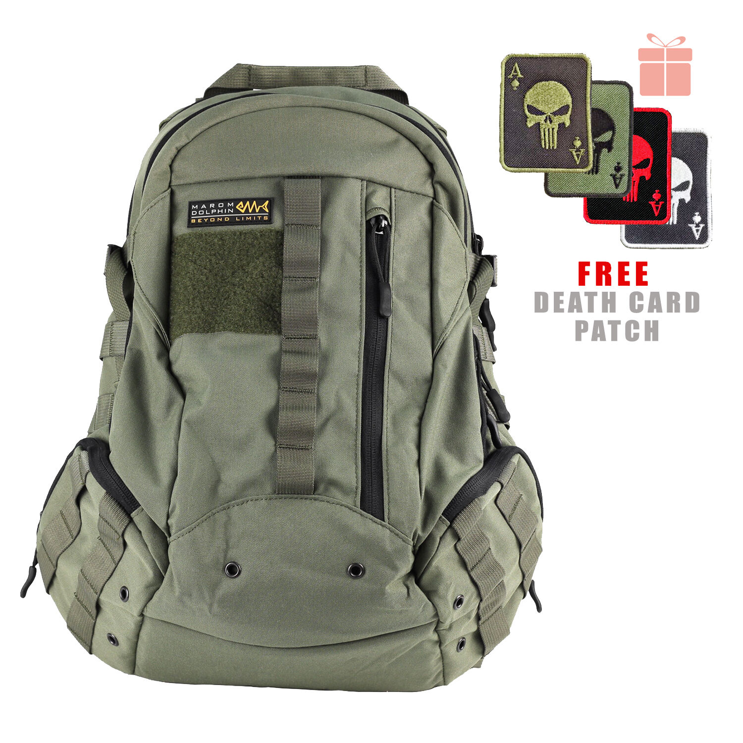 Marom Dolphin Newly Designed Tactical EGG Assault Bag w  Free Moral Patch BG4400