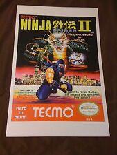 Ninja Gaiden II: The Dark Sword of Chaos 11x17 Box Art Poster - NES No Game 2 -