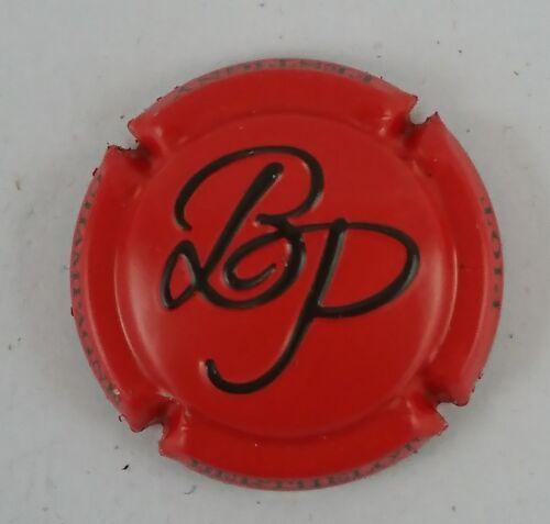 capsule champagne BERTHELOT PIOT estampée rouge et noir