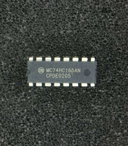MC74HC165AN ON SEMI IC SHIFT REGISTER 8BIT 16DIP 12 PIECES