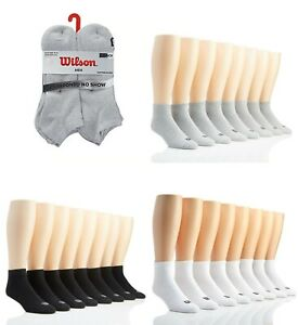 Men-039-s-Wilson-8-Pack-Cushioned-Ankle-Low-Cut-No-Show-Quarter-Socks-Sport-Sz-10-13