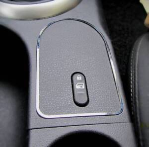 D mercedes w209 cromo marco para interruptor luz de aviso-acero inoxidable pulido