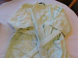 Tryon Femmes Peignoir Lt Vert 3/4Sleeve Taille Non Étiquette Tissu-éponge