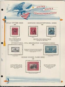 united states commemoratives series 1928/29 stamps page ref 18271