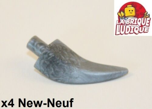 Claw Horn argent//flat silver 87747 NEUF 4x Corne Barb Large Lego