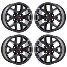 20 Gmc Sierra 1500 Black Wheels Rims Factory Oem 2017 2018 Set 5658 Exchange