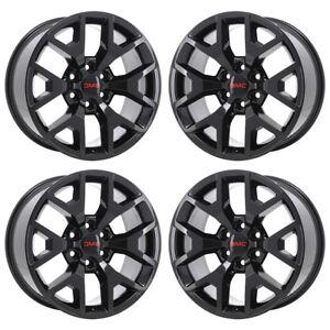 20 Gmc Sierra 1500 Black Wheels Rims Factory Oem 2017 2018 Set 5658