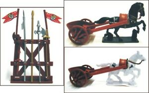 1-32-Roman-Chariot-Figures-Plastic-Toy-Soldier-Horses-w-Weapons