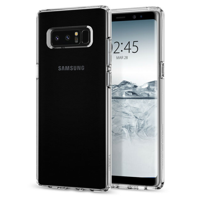 new style 66d2f 5dde0 Spigen Samsung Galaxy Note 8 Liquid Crystal Ultra Slim Clear Case TPU Cover