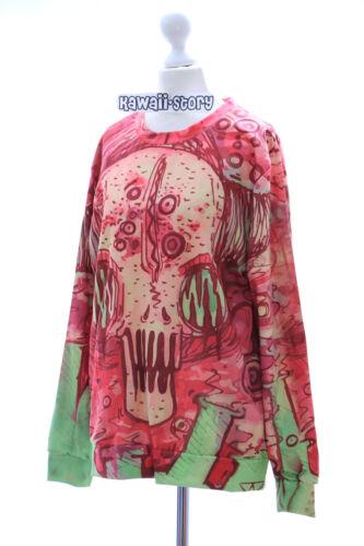 Ty-g207 TESCHIO SKULL Diavolo Vintage Gothic Punk Felpa pullover HARAJUKU
