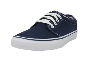 a838f5e36a VANS 106 Vulcanized Navy Blue White Lace Up Sneakers Fashion Men ...