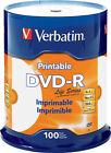 Verbatim Dvd-r 4.7gb 16x Life Series White Inkjet Printable 100pk Spindle