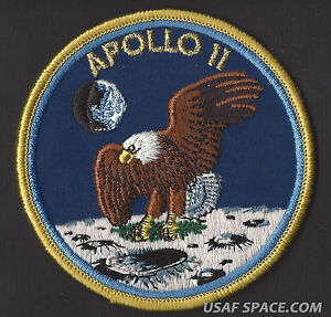 APOLLO 7 LION BROTHERS VINTAGE ORIGINAL NASA CLOTH BACK SPACE MISSION PATCH