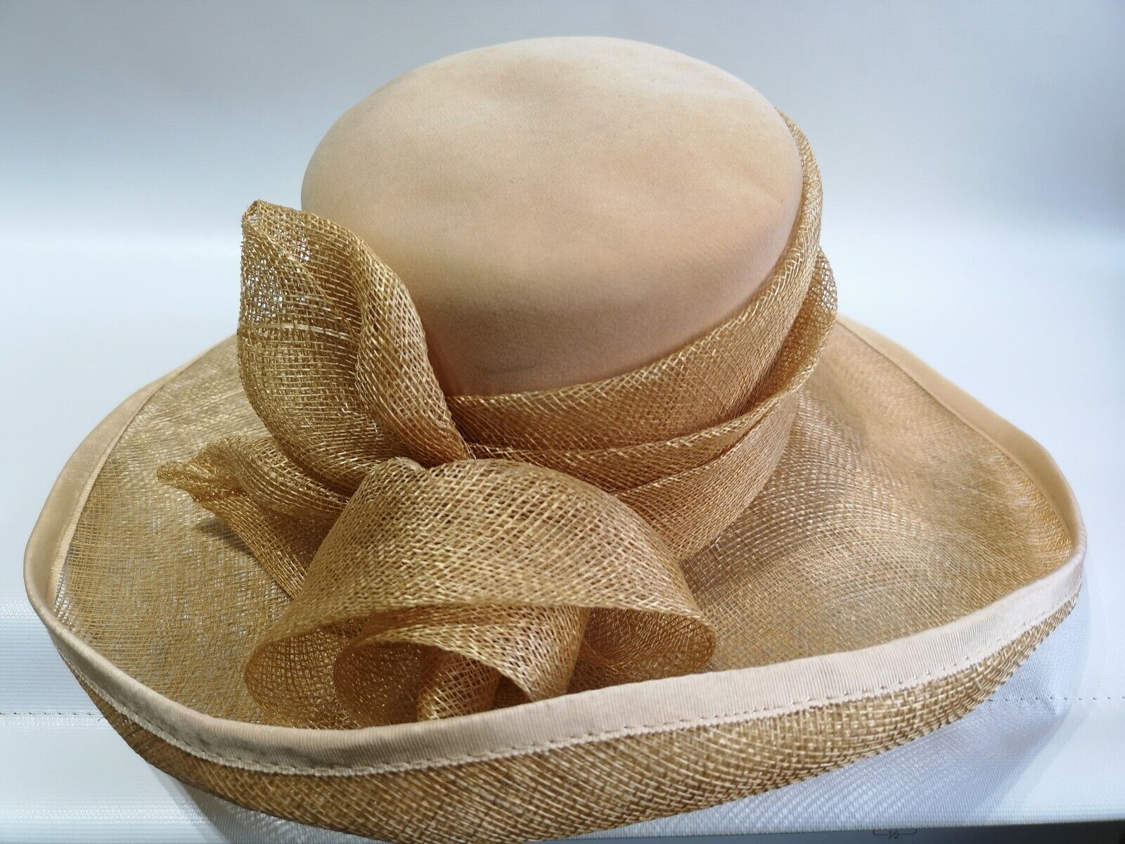 Jacques Vert Occasion Hat Racing Wedding Ascot Henley Sandy-wheat Colour