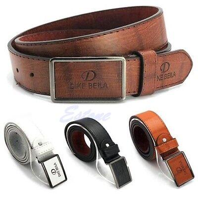 Men Waistband Luxury Leather Automatic Buckle Belt Casual Waist Strap Belts