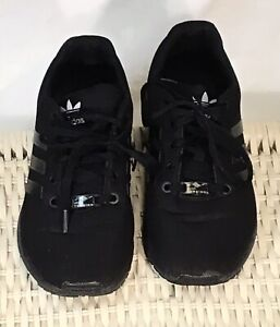 ADIDAS-ZX-Flux-Black-Torsion-Running-Athletic-Shoes-Sneakers-Men-039-s-Size-6
