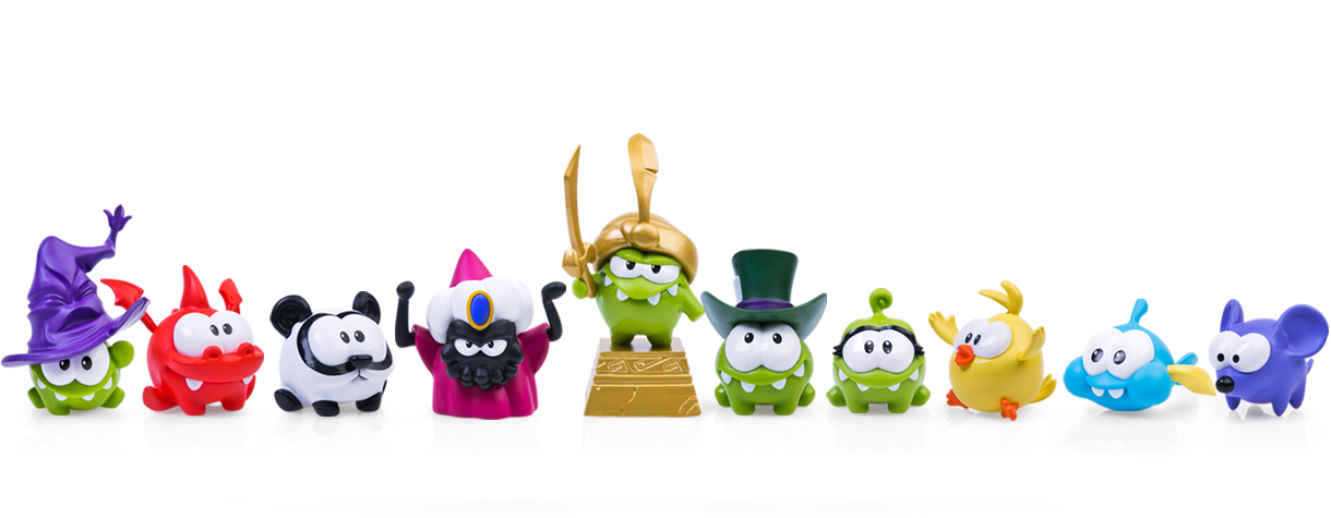 Cut The Rope Magic Awesome set of 10 Figures (4-6cm) From PROSTO TOYS