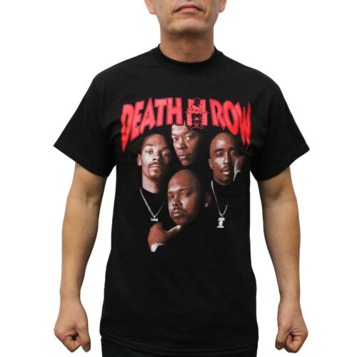Death Row Records Tupac Dre Poster Men/'s T-Shirt Black