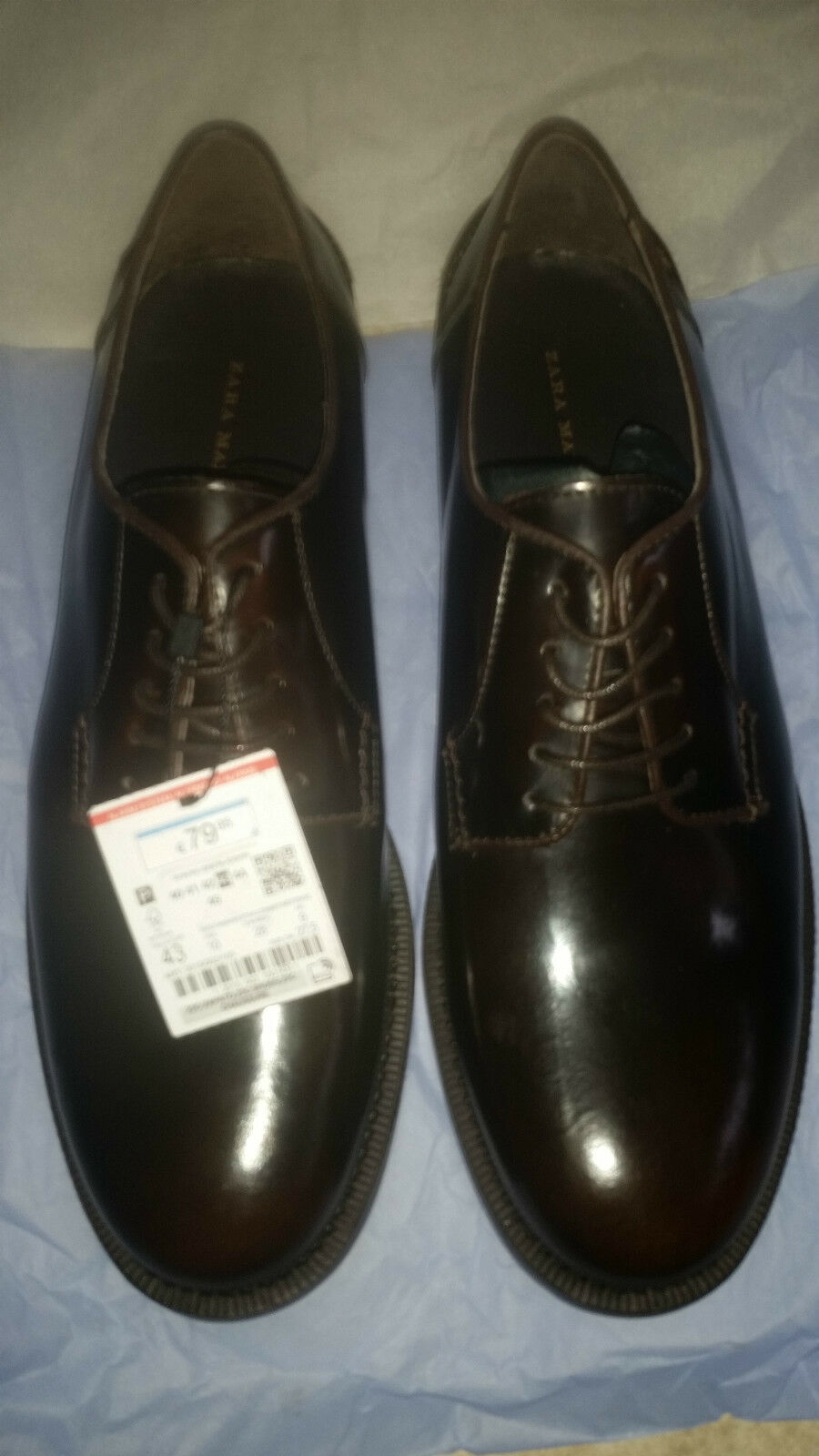 NEW Zara Men's ANTIK LEATHER SHOES    - Sz 10 D (NWOB)