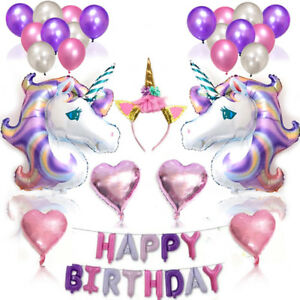 38pcs-Unicorn-Balloons-Birthday-Party-Supplies-for-Kids-Birthday-Decorations-New