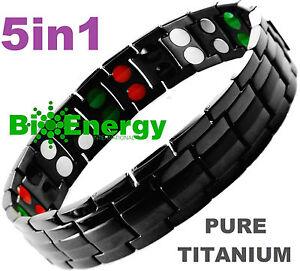Image Is Loading TITANIUM Magnetic Energy Germanium Armband Power Bracelet Health