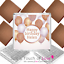 50 x Personalised Neapolitan Chocolate ROSE GOLD Birthday Balloons Favours