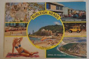Burleigh-Heads-Gold-Coast-Queensland-Australia-Vintage-Collectable-Postcard