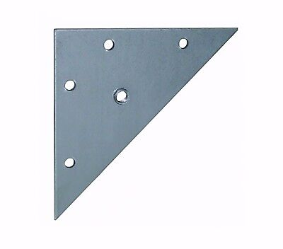 Triangular Table Mounting Plates M8 Fixing Hole Zinc Plated Galvanised Steel