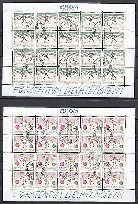 """Ausdrucksvoll Liechtenstein 2002 1283-1284 """"europa Zirkus"""" Im Kleinbogen Gestempelt 100% Original Mi"""