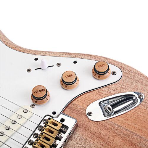 3 x Ahornholz Gitarre Potiknopf 1 Volume Gitarre Volume Tone 2 Tone Set