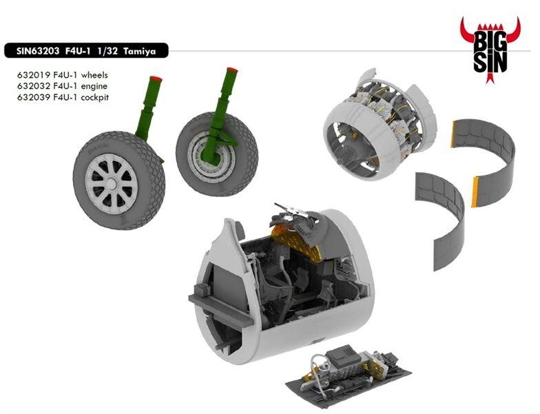 Eduard Bigsin 63203 1 32 Vought F4u-1 Corsair Tamiya Verbesserung Set  | Wunderbar