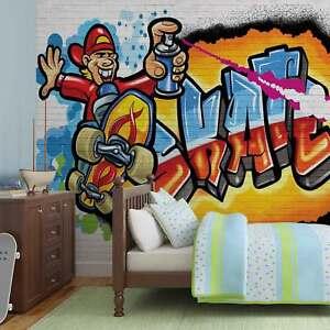 Wall mural photo wallpaper xxl graffiti skate 3052ws ebay image is loading wall mural photo wallpaper xxl graffiti skate 3052ws altavistaventures Image collections