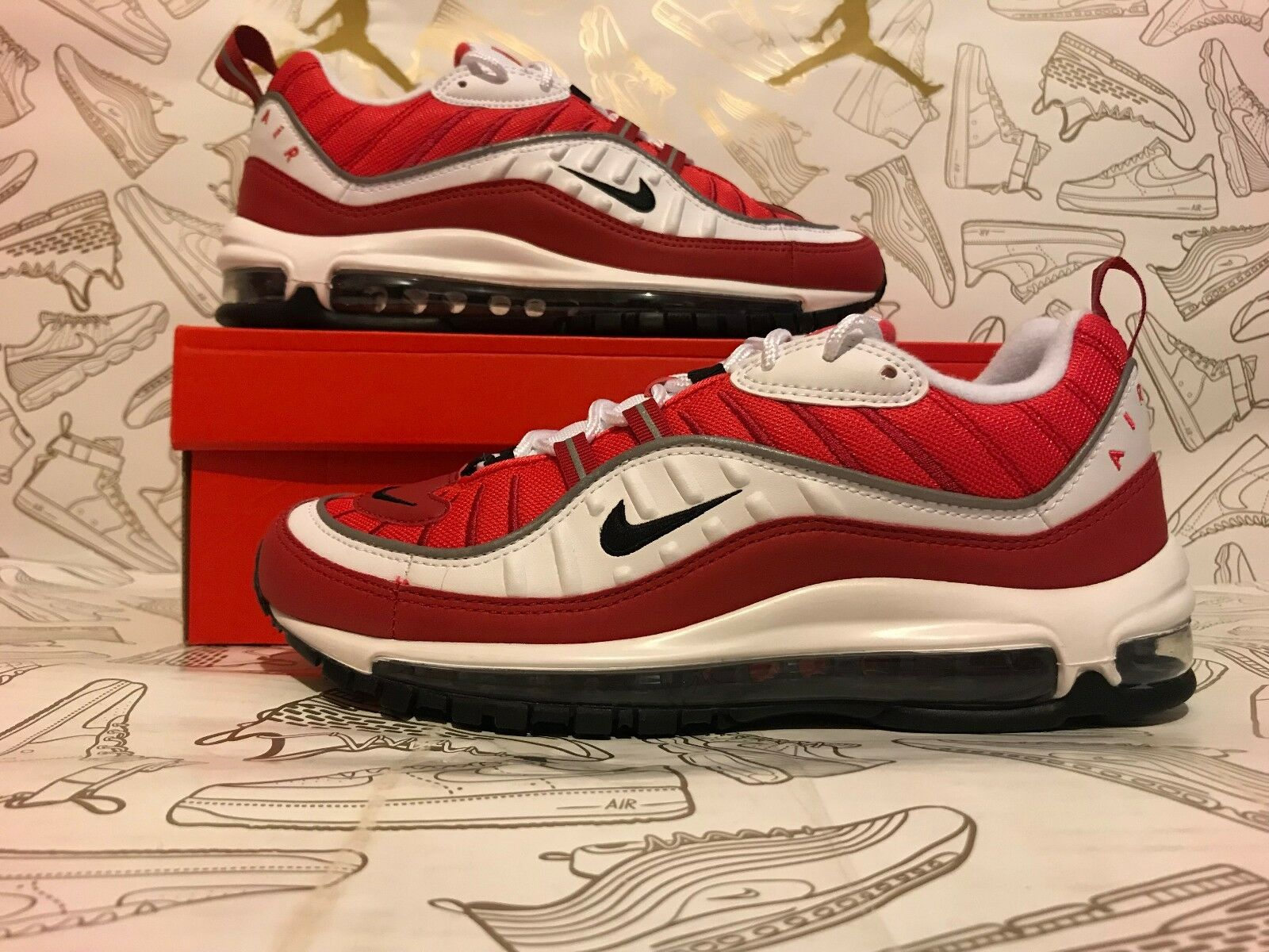 New Nike W Air Max 98 Gym Red Valentines Day Women Price reduction