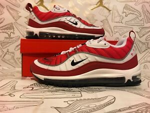 Nike Wmns Air Max 98 (White Black Gym Red Reflect Silver)