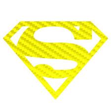 Carbon Fiber Superman Sticker Superhero Symbol Decal