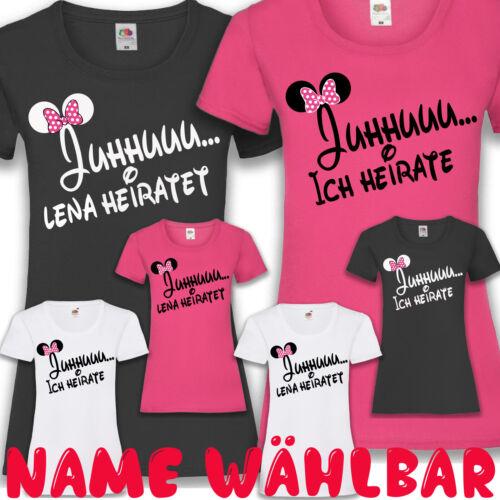 JGA T-Shirt Braut JUHU Ich heirate Junggesellinnenabschied Damen XS-XXL günstig