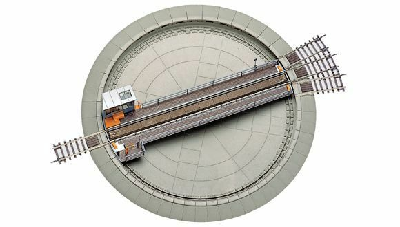 ROCO h0 42615 piattaforma girevole del modellololo con elektroantrieb e centralina NUOVO + OVP