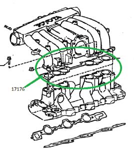 Toyota 4runner Pickup T100 Intake Plenum Gasket 1717665020 Ebay. Is Loading Toyota4runnerpickupt100intakeplenumgasket17176. Toyota. 1996 Toyota T100 Intake Diagram At Scoala.co