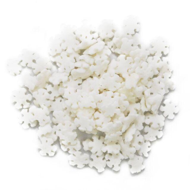 Christmas - Frozen - Snowflakes Edible Confetti Sprinkles - 2.6 oz