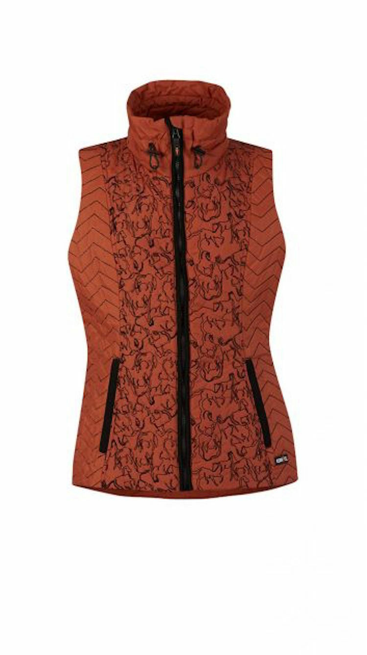 Kerrits Horseplay Quilted Equestrian  Vest-Chestnut-2X  the latest models
