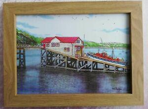 Mumbles Life Boat House Swansea - Watercolour Painting - Tony Paultyn