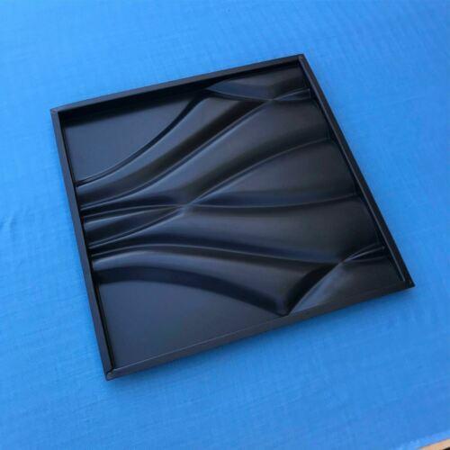 Plastic Molds For 3d Wall Panels Art Decor 3d  Plaster Tile Pattern Milan