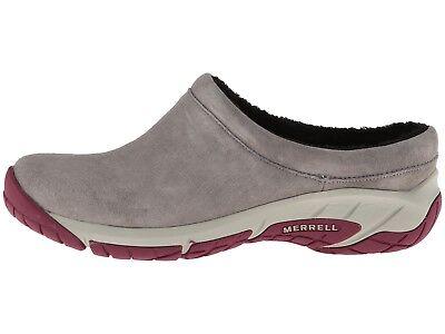 Merrell Encore Crystal Nova Women Slip-on Clog 6.5 Soft Suede Shoe Faux Fur Dove