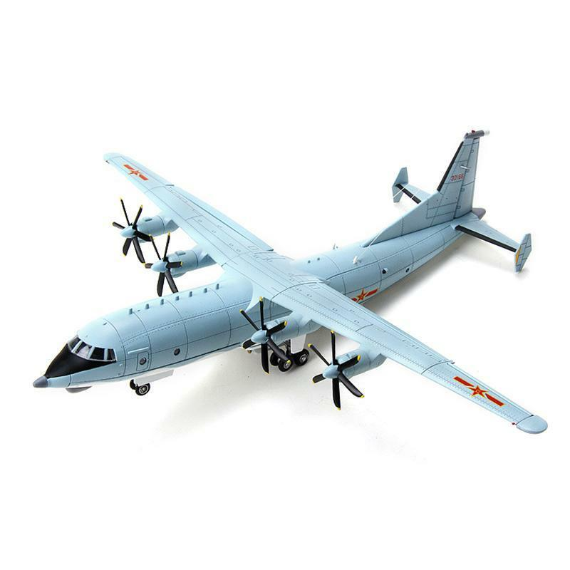 1 100 Scale Y-8 Military Transport Aircraft Collection Airplane Static Model