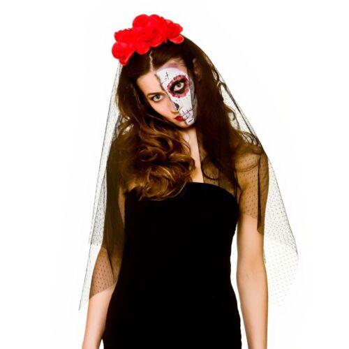 Day Of the Dead Eye Masks Halloween Fancy Dress Adult Veil Eyemask Zombie Living