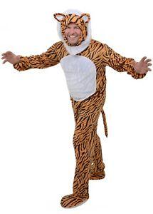 Adulto-para-Hombre-Tigre-Animal-Halloween-Traje-Dia-Mundial-del-Libro-Talla