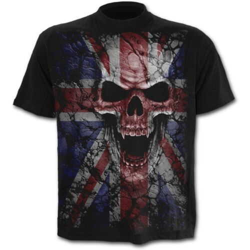 Spiral Direct UNION WRATH T-Shirt Goth Rock Biker Tattoo Made In England UK Flag
