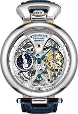 Stuhrling Emperor's Grandeur 3919 Automatic 49mm Men's Skeleton Dual Time Watch