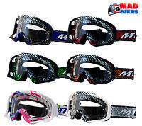 MT MX Pro III Goggles For Motocross, Enduro, MX, BMX, MTB, With Tear Off Posts