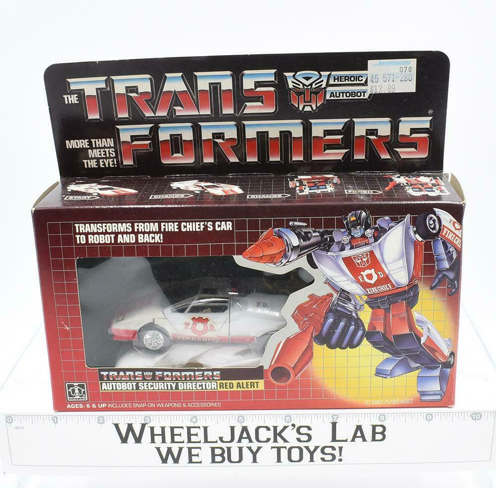 Alerta Roja Menta en caja 100% Completo B 1985 Vintage Hasbro Figura De Acción Transformers G1